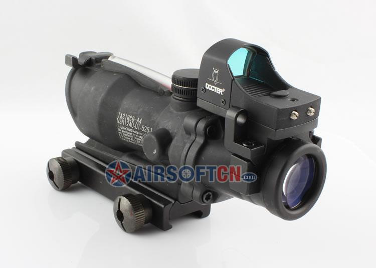 Airsoft Trijicon 4x32 ACOG TA31 Type Cross Scope Riflescope w/ Fiber & Light Sensitive Scope Docter Red Dot Sight, GL 4X32C2
