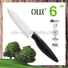 6'' White Blade Kitchen Chef Knife Chinese Ceramic Knife