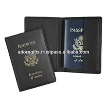 ADAPC - 0032 personalized passport holders / black leather passport holder cases / fashion design passport holder wallets