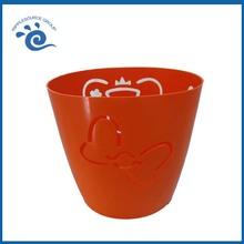 Plastic Cute Oval Orange Small Plastic Waste Baskets