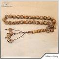 2013 bonne vente nouveau modèle Imitation bois couleur acrylique perles de chapelet musulman islamique rosaire collier