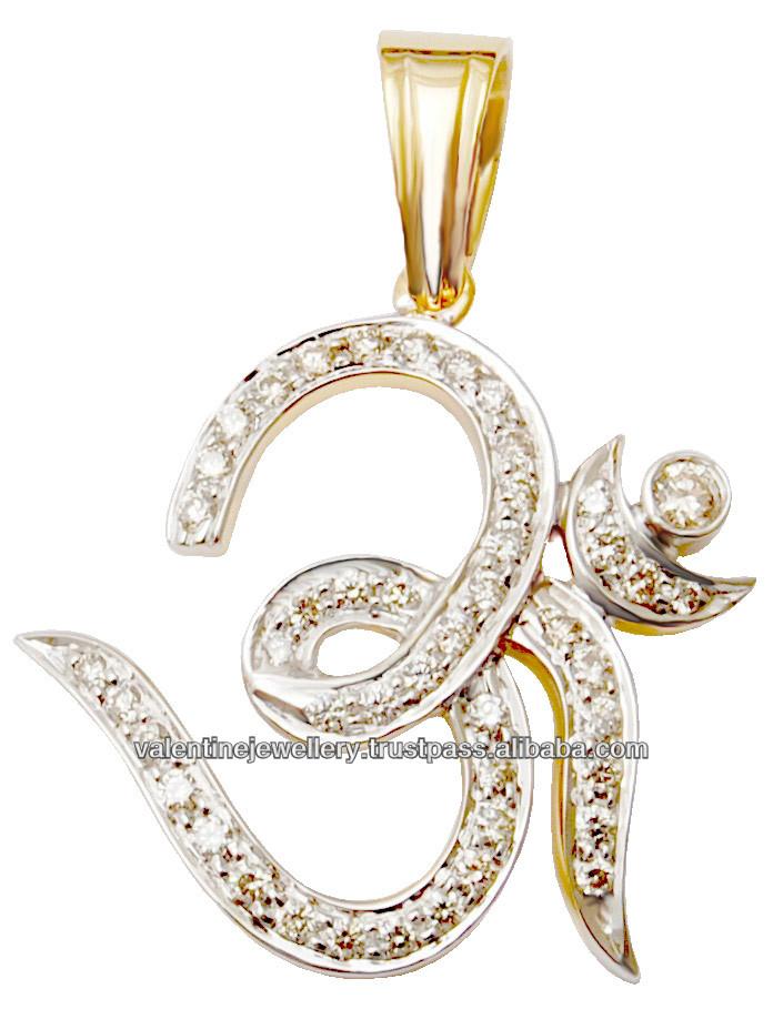 designer pave pendant indian ethnic pendant