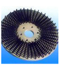 abrasive circular brass round wire brush/ nylon wire disc brush for cleaning