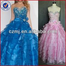 Long pleating sweetheart mermaid style satin bead evening dress 2012