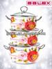 Enamel Cooking Pot 3pcs Set stainless steel handle&knob