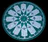 Gemstone craft carved table top malachite