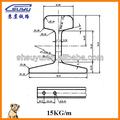 Suyu industrial de luz de acero de ferrocarril 15kg( gb 11264- 1989)
