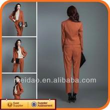 2014 Fashion Ladies Cheap China Ladies Trouser Suit Set