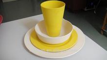 2015 beautiful decal printing dinnerware sets mug bowl plate