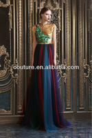 2013 beautiful latest top brand floor length beaded custom make for women TM1445 color combinations of dresses