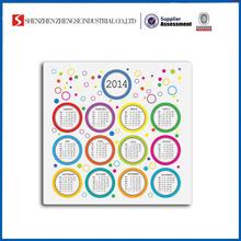 New Arrival Custom Calendar 2014 With Custom Logo For Promotional