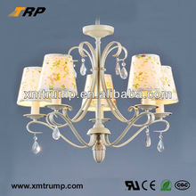 New european design chandelier lighting with fabric covering
