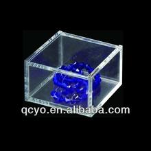 China Square mini clear acrylic jewelry display cabinets