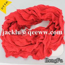 Red knitted acrylic scraf/shawl