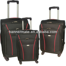 600D poleyster polo luggage bag with four wheels