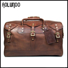 Small Classic travel luggage bags, American Heritage Brown Leather travel bag