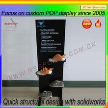 metal shoe display rack pop OEM wall mount shoe display shelf