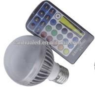 CE Rohs high bright office/meeting room indoor good quality aluminum+PC 5W energy saving rgb 110V/220V led bulb light/lamp