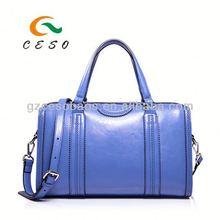 2014 new design fashion women PU tote handbag trade shows