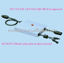 SUNCON 24-hour remote web monitor 250watt solar on grid micro inverter at EXW prie