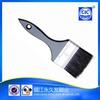 High quality pure black bristle tin ferrule wooden handle brush