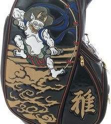 Fujin Raijin Japan Special Mountain Embroidery Golf Cart Bag