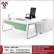 I shaped Melamine Wood Small Office Desk