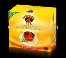 Pure Ceylon Baronchi 100 Tea Bag Box