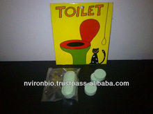 Fizzy tablets for toilets