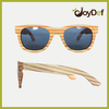 Polarized bamboo wood sunglasses eyewear with colorful frame