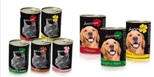 Wet Pet food for cat and dog in tins