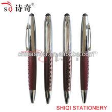 Luxurious leather pen,touch pen