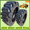 top seller 7.50-16, 10-16.5, 12-16.5, 14-17.5 new/ used mini skid steer loader solid tires with rims