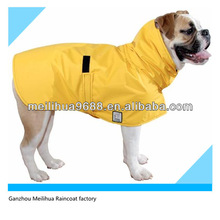 Best price M size yellow PVC Raincoat for large dogs