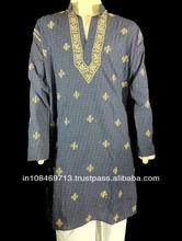 Designer mens kurta in hand embroidery