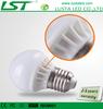 3W LED Light Bulbs,E27/E14 Base,AC 85-245V Input,Ceramic+Glass Housing