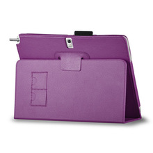 Portable Stand PU Leather Case for Samsung Galaxy Note 10.1