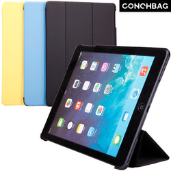 Three plates fold to stand leather stand smart case cover for ipad air