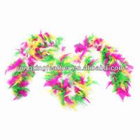 rainbow turkey feather boas for decorations
