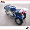 "Pocket Bike Gasoline 3 wheels MN-P301 2 stroke 49cc Pull Start Max Speed 60km/h with 10"" rubber wheel"