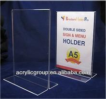 Manufacturer supplies elegant acrylic stand-up sign holder