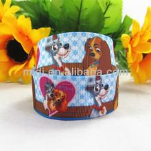 1'' best seller animal printed grosgrain printed ribbon dog
