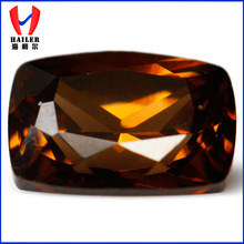 Chinese Machine Cut Brown Color Cubic Zircon for Art