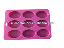 2014 best seller 6 cavities nonstick silicone tray soap mold