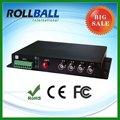 Buen precio 4 canales de fibra óptica convertidor de audio
