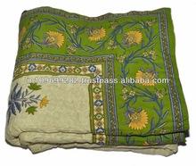 Jaipuri Print Cotton Latest Ethnic Designer quilt double bed Size 90x180