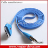 USB cable For iPhone 4 4S Smile Face LED USB Sync Data Charger Cable