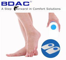 silicone gel heel spur treatment shoe insert insoles for spurs
