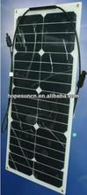 25w bendable mono flexible solar panel, semi solar panel for golf carts