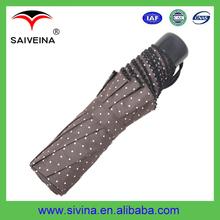 21 Inches Dots Printing Pocket Size Folding Umbrella Dubai
